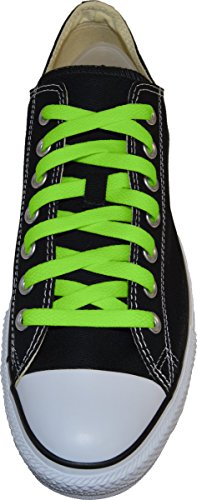 My Shoe Laces Flat Shoelaces 5/16 Wide Athletic Replacement Lace For Sneakers and Shoes (Neon Green, 54)