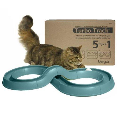 Bergan Turbo Track Cat Toy, Green by Bergan