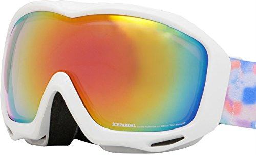 ICEPARDAL(アイスパーダル)全12色ダブルレンズレディーススノーボードゴーグルRevoミラーIBP-672WT_RD_PKスキースノー用スノーゴーグルかわいい