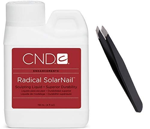 Radical SolarNail Sculpting Liquid 4 oz+PROFESSIONEAL TWEEZER (Solarnail Liquid)