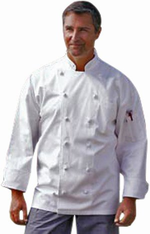 Uncommon Threads Unisex-Adults Plus Size Executive Chef Coat Wht, White, 6XL by Uncommon Threads