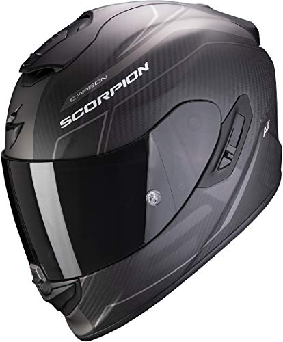 Scorpion Helm Scorpion EXO-1400 Carbon Air Beux matt Weiß Grün XL
