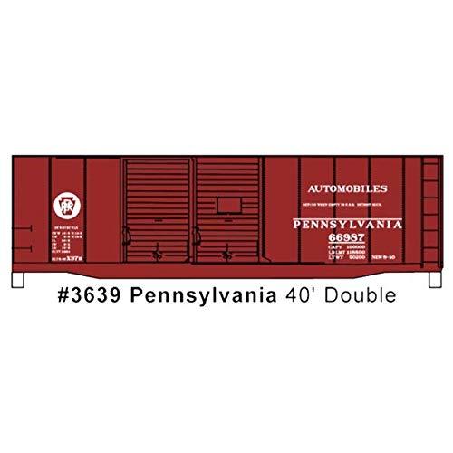 Accurail ACU3639 HO KIT 40' Double Sheath Box, PRR/Circle Keystone ()