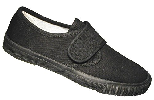 Mirak 3 Velcro Black Childrens Plimsolls Size zzvxOar8