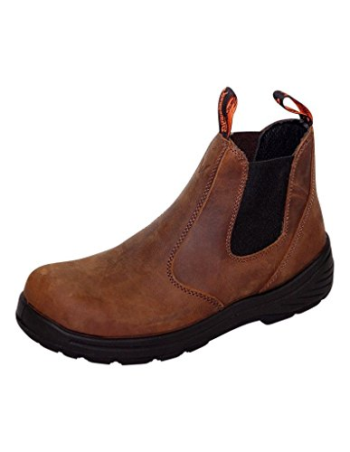 Thorogood Work Boots Mens Composite Toe Slip On EH Brown 804-3166
