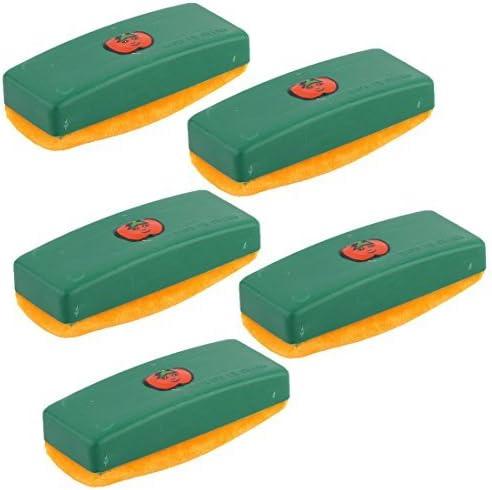 Padrão DealMux da Apple Escola Retângulo Giz aspirador de pó da escova 5 Pcs Verde: Amazon.es: Oficina y papelería