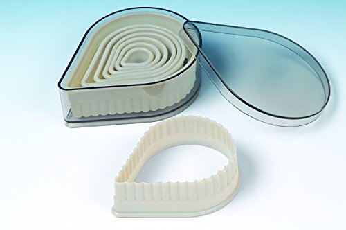 8 piece set Acrylic Pear Fluted Cookie Cutter for Cookies, Pastry, Biscuits, Pie Tops, Sugarcraft and Cake decoration