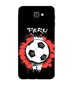 ColorKing Football Peru 03 Black shell case cover for Samsung On7 Prime