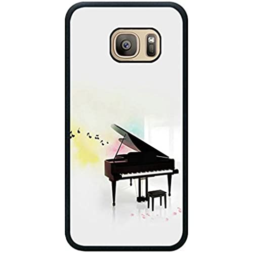 Minffc Unique With Beautiful Notes Pattern Black Piano Protective Case Cover For Samsung Galaxy S7 Sales