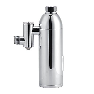TOPINCN Brass Wall Mounted Bathroom Infrared Intelligent Automatic Sensor Toilet Urinal Flush Valve