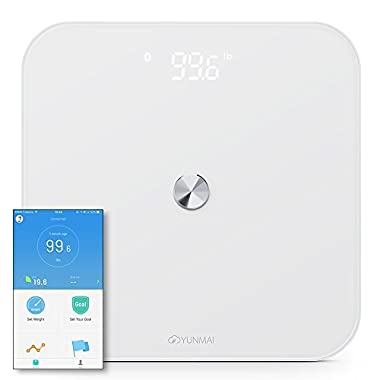 Yunmai SE Smart Digital Body Weight & BMI Scale - Fitness APP with Hidden LED Display - Works with iPhone 8/iPhone X(10)