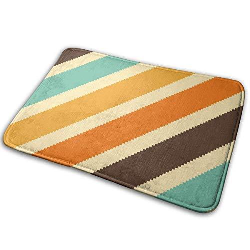 (Dx Fashion Colorful Diagonal Stripe Orange Yellow Entrance Mat Floor Mat Home Decor Carpet Indoor Rectangle Doormat Kitchen Mats)