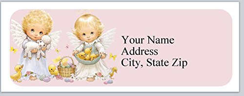 120 Personalized Address labels Cute Baby Angels Easter (P 281) - Angel Personalized Address Labels