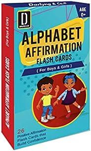 Darlyng & Co.'s Modern Alphabet Affirmation Flash Cards for Kids ABC Flash Cards (ABC Affirmation Flas