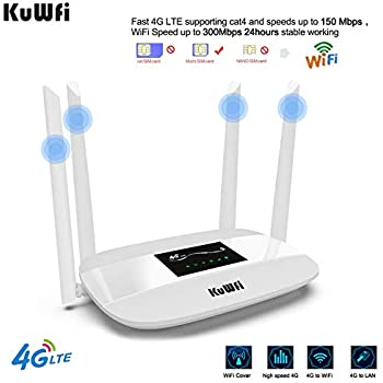 Amazon.com: KuWFi 4G LTE CPE Router 300Mbps Unlocked ...