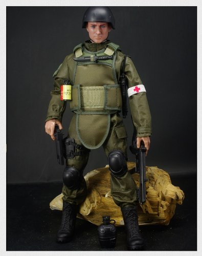 12 Military Figures Inch (12'' Special Forces Action Figure - Olive Drab)