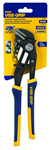 IRWIN Tools VISE-GRIP GrooveLock Pliers, Smooth Jaw, 10-inch - Jaw Vise Large Grip