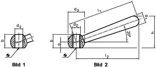 /Length 50/mm//Stainless Steel Halder 24470.0405/Cone Handles Matt Steel/