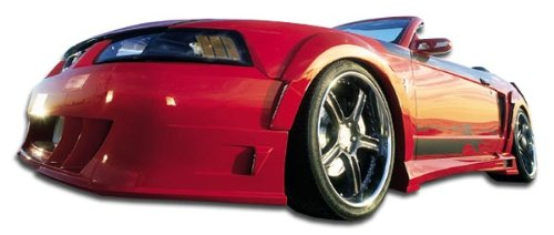 (Couture ED-NVF-916 Urethane Demon Front Fender Flares - 2 Piece Body Kit - Compatible For Ford Mustang 1999-2004)