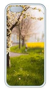 Apple iPhone 5S Cases - Raining Petals TPU Hard Plastic Case for iPhone 5/5S - White