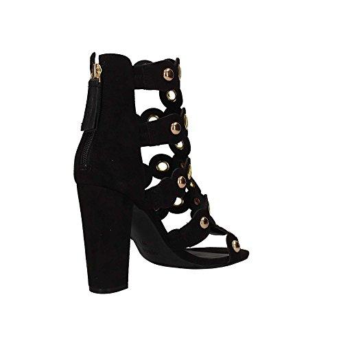 Guess Noir Gariza sandales suède femmes qzwrSXOz