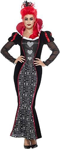 Ladies Red Queen Vampire Baroque Bloodsucker Halloween Horror Scary Fancy Dress Costume Outfit (UK 16-18) ()