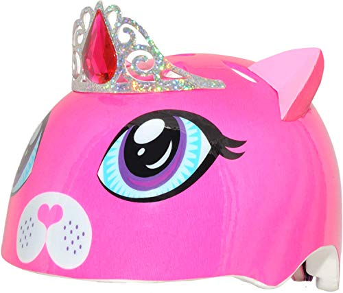 Raskullz Girls Kitty Tiara Helmet, Dark Pink, Ages 5+
