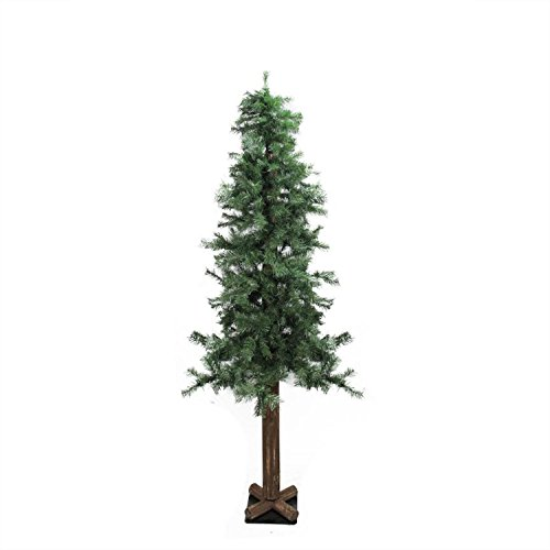 Slim Unlit Christmas Tree (Northlight 6' Traditional Mixed Green Woodland Alpine Artificial Christmas Tree - Unlit)