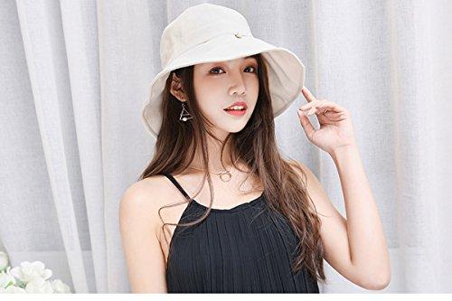 HAPEE Womens Sun Hat,Both Sides wear,UPF 50+ Beach Hat Foldable Wide Brim by HAPEE (Image #4)
