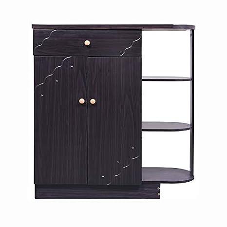 Bharat Lifestyle Hudson Engineered Wood Shoe Rack (Black, 3 Shelves)