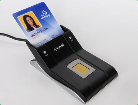 Verifi P5500 Premium Metal Smart Card/Fingerprint Reader ()