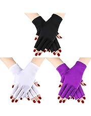 3 Pares UV Shield Glove Gel Manicures Glove Anti UV Guantes sin Dedos Protegen Las Manos de la lámpara de luz UV Secador de manicura