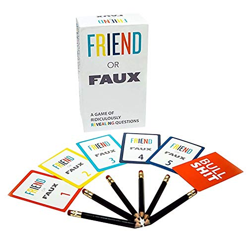 Games Adults Play Friend or Faux: A Game of Ridiculously Revealing Questions by, Multicolor (Best Games For Friends)