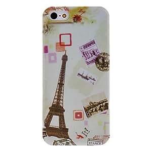 WQQ hermoso estuche rígido patrón de la torre Eiffel para el iphone 5/5s