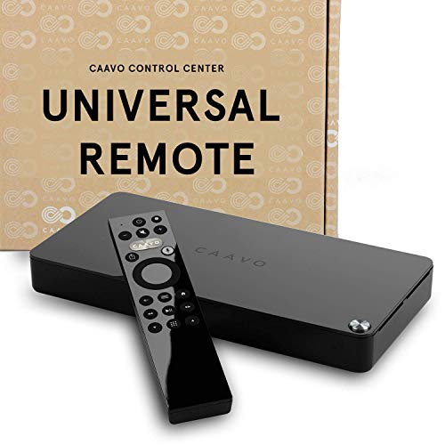 Caavo Control Center & TV Remote w/ Voice Control, 4K UHD, HDR Controls Roku, Apple TV, FireTV, Dish, XFinity & more Up to 4 Devices + Sonos, Soundbar, AVR, pairs w/ Google Voice & Amazon Alexa
