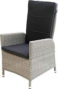 Ploß Outdoor furniture Dining de sillón, Catania, Gris, 60 x ...
