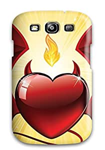 Pretty NjdSthN723TWoSe Galaxy S3 Case Cover/ Flying Devil Heart Valentines Day Series High Quality Case