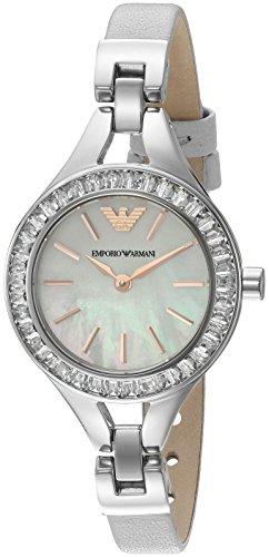 Emporio Armani Women's AR7426 Dress Grey Leather Quartz - Armani Ladies Emporio