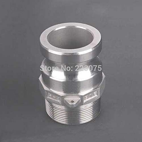 Maslin SS304 Stainless Steel CAM Lock CAMLOCK&Groove Type F Coupler Male to 1'' NPT Male Adapter Home Brew