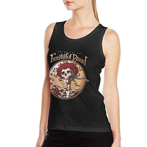 (David E Everett Grateful Dead Women's Tank Top T Shirt Cotton Fashion Sleeveless Fitness Vest S Black)