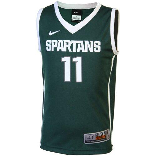 (Nike Elite Michigan State Spartans #11 Toddler Replica Basketball Jersey - Green (4T))