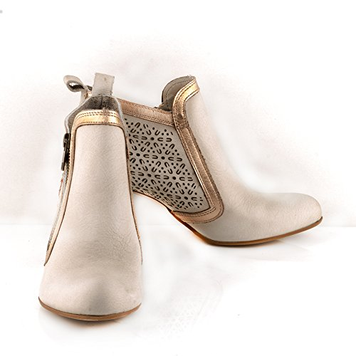 Felmini - Zapatos para Mujer - Enamorarse com Carla 9629 - Botines de tacón - Cuero Genuino - Varios colores Varios colores