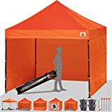 ABCCANOPY Orange 10 X 10 Ez Pop up Canopy Tent Commercial Instant Gazebos with 6 Removable Sides and Roller Bag and 4X Weight Bag Review