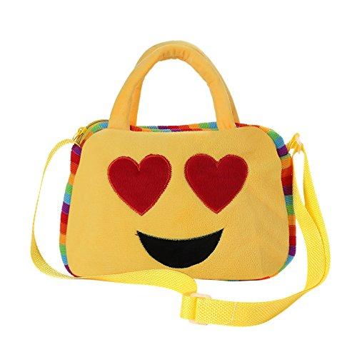 (Cute Emoji Emoticon Shoulder School Child Bag Backpack,Outsta Satchel Rucksack Handbag Phone Pack Purse Classic Casual (B))