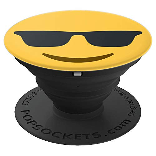 Cool Sunglasses Emoji Emoticon PopSockets Grip and Stand for Phones and ()