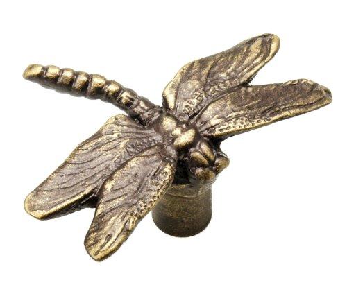Carpe Diem Hardware 2243-3 Waterscape Dragon Fly Knob, Antique Brass