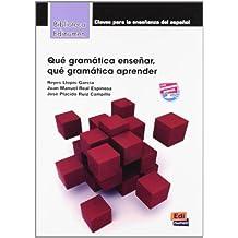 Que gramatica ensenar/aprender