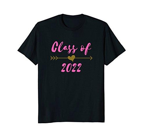 Class of 2022 8th Grade Pink Arrow Cute Teen Girls Shirt