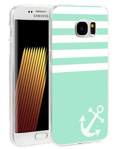 Striped Edge - S7 Edge Case Striped Protective - Case for Galaxy S7 Edge - Replacement Cover for Samsung S7 Edge - Beautiful Design Cute (Flexible TPU Protective Silicone)