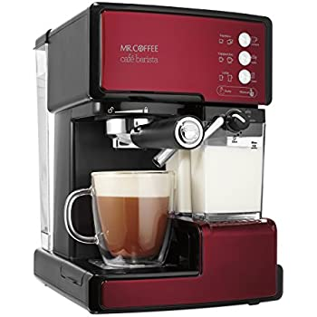 Mr. Coffee Cafe Barista Espresso and Cappuccino Maker, Red - BVMC-ECMP1106